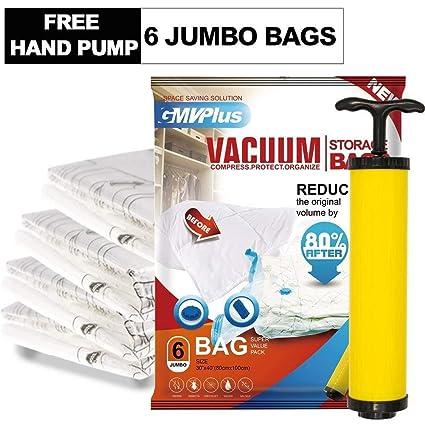Paquete de 6 Bolsas GIGANTES de Almacenamiento al Vacío ...