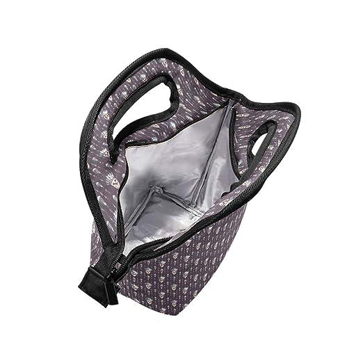 91d94981f26f Amazon.com - HEOEH Indain Hat Skull Purple Lunch Bag Cooler Tote Bag ...