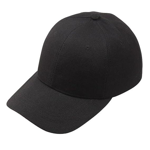Unisex Women Men Classic Adjustable Baseball Cap Washed Snapback Hip-Hop Plain Dad Hat Sunhat (Black) at Amazon Womens Clothing store: