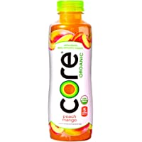 Core Organic Fruit Infused Beverage, Peach Mango, 18 Ounce (Pack of 12)