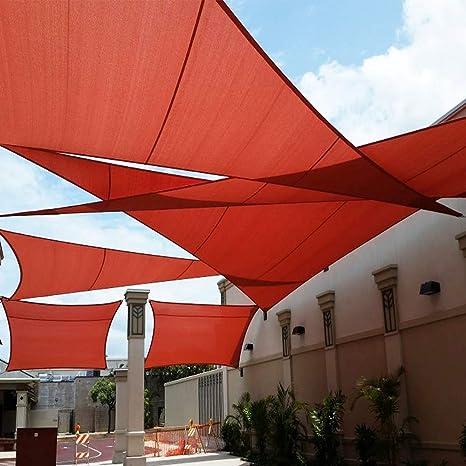 QHGao Toldo De Protección Solar contra Rayos UV Cuadrado Rojo ...