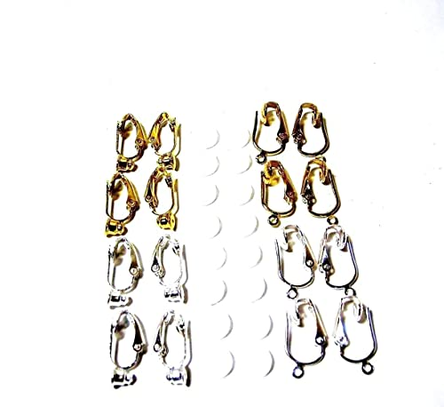 98f9510f1 Amazon.com: Melodys Gift Depot 16pc Clip on Earring Converter Kit ...
