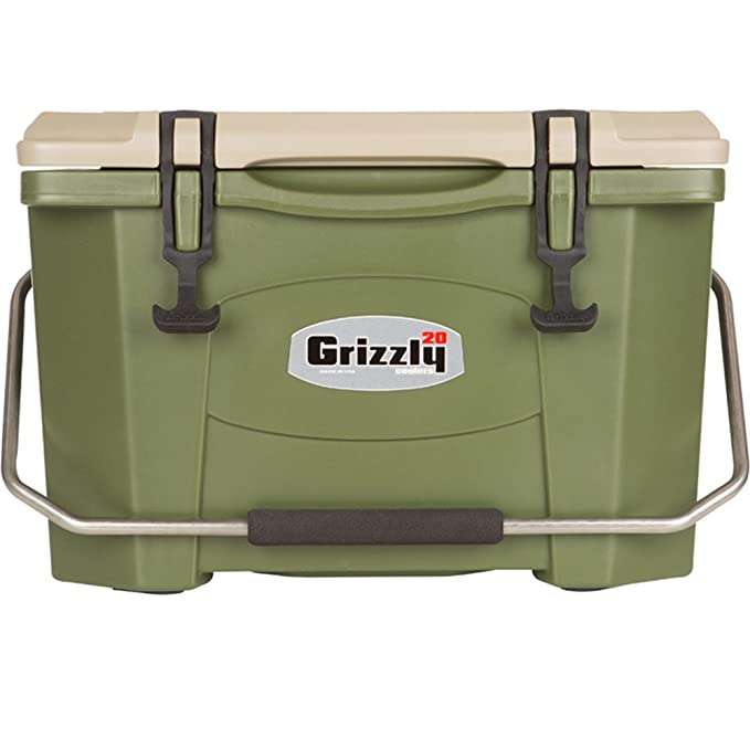 Grizzly 20 Quart OD Green/Tan Cooler