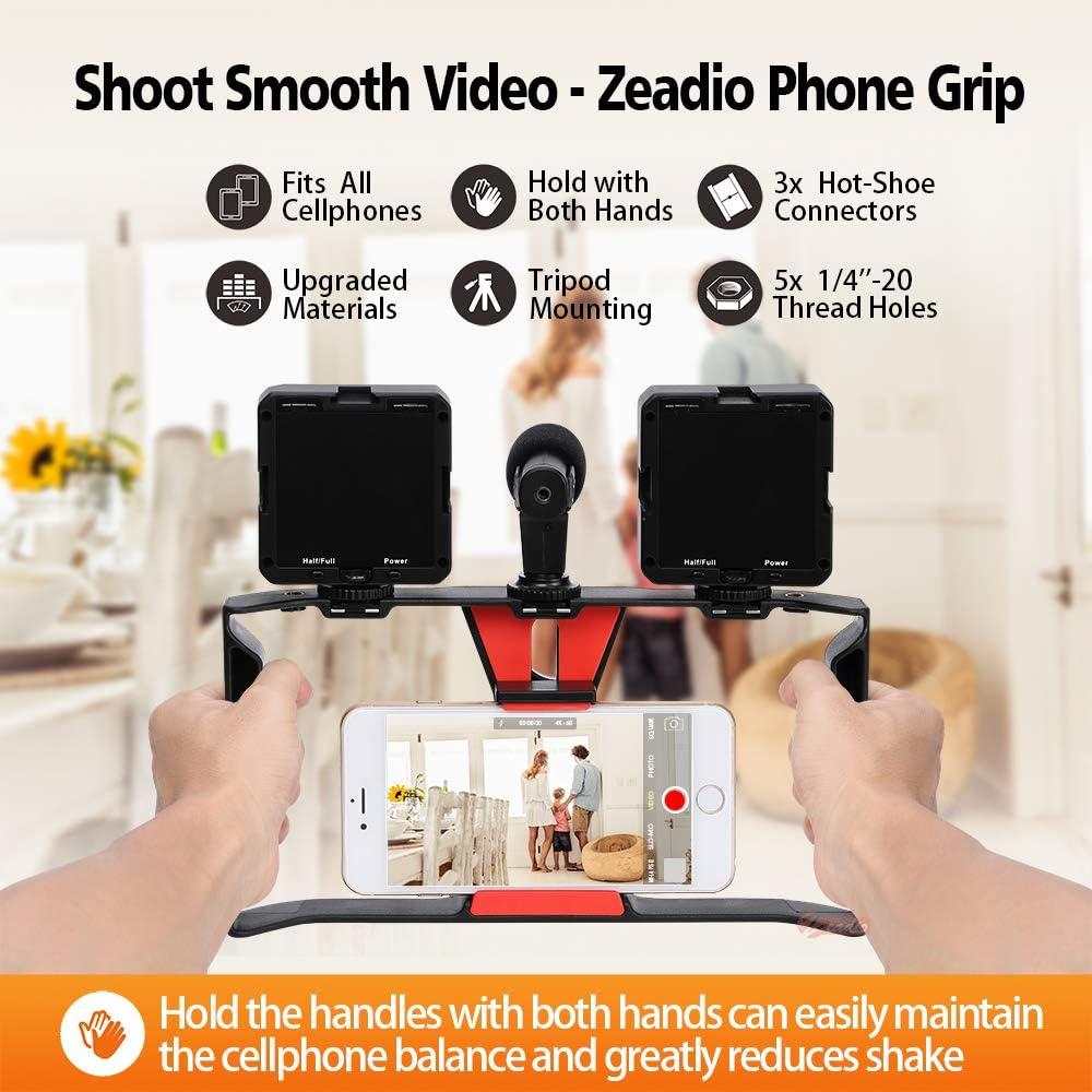Zeadio Soporte de Video para Teléfono, Estabilizador Empuñadura ...