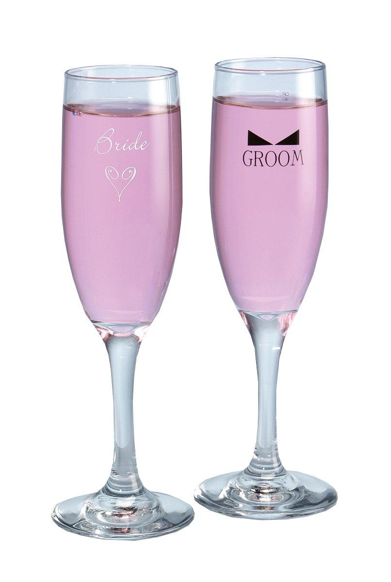Set of 2 Hewitt Wedding Accessories 50Th Anniversary Champagne Toasting Flutes Hortense B