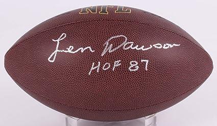 e1c480e6e Len Dawson Kanas City Chiefs Signed Autograph NFL Football HOF Inscribed  JSA Witnessed Certified