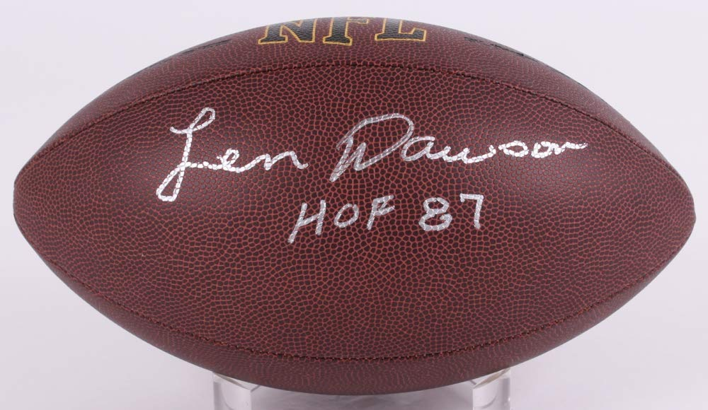 Len Dawson Kanas City Chiefs Signed Autograph NFL Football HOF Inscribed JSA Witnessed Certified