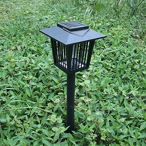FixtureDisplays Solar-Powered Outdoor Insect Killer/Bug Zapper/Mosquito Killer, Garden Light, Hang or Stick in The Ground, Dual Modes 16804-2PK