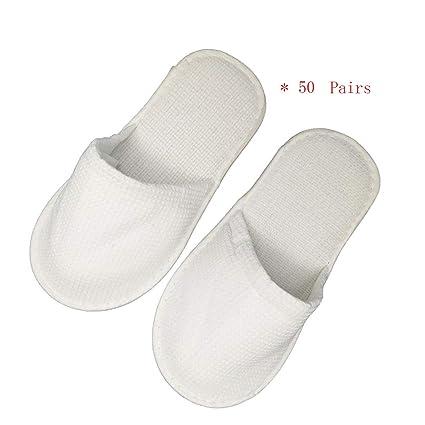ZPF 50 Pares De Zapatillas Desechables, Zapatillas Desechables Masculinas Desechables para Mujeres para Entretener A