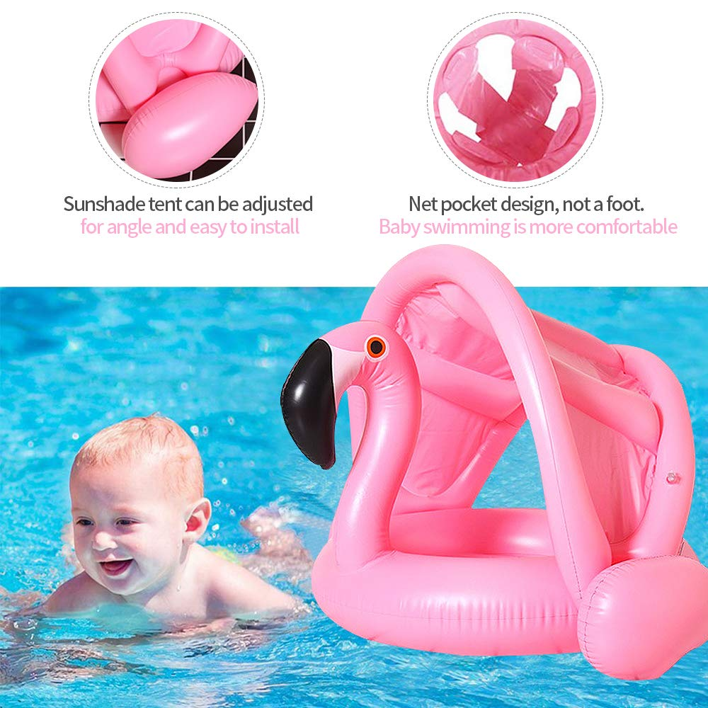 Pink VSTON Baby Swimming Bath Ring Security Safety Aid Float Swim Inflatable Floatation Ring 6 months to 30 months