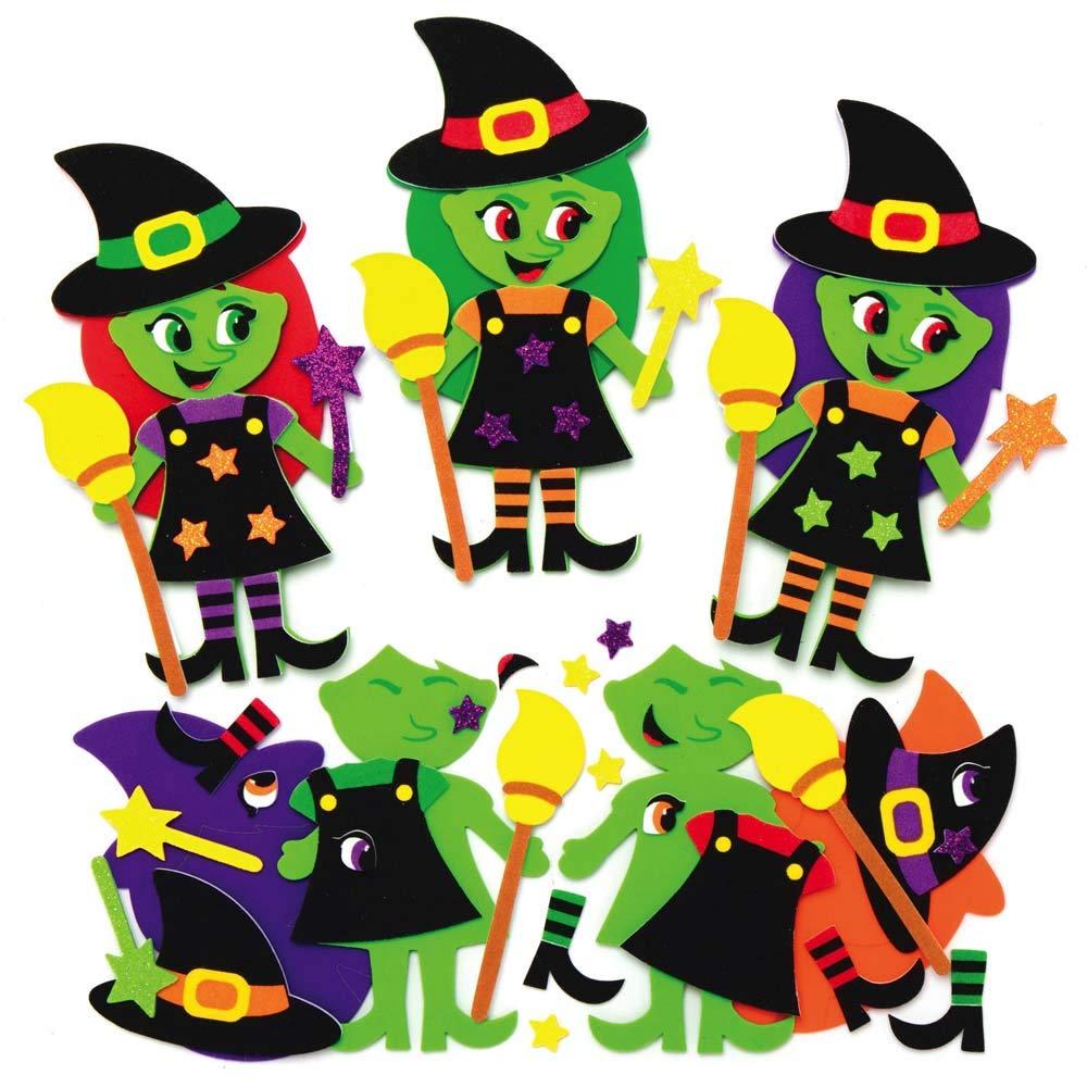 Baker Ross AX240 Kit Imanes Monstruo De Halloween Paquete De 8 Mezcla Y Combina Im/án De Espuma