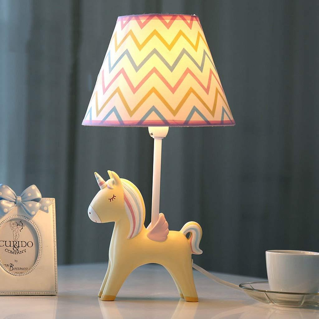 SMC Nachttischlampe Tischlampe Kinderzimmer Cartoon Einhorn LED Tischleuchte Schlafzimmer Nachttischlampe SMC Kreative Junge Mädchen Nette Dekorative Tischlampe (Farbe   Pink) b77dd4