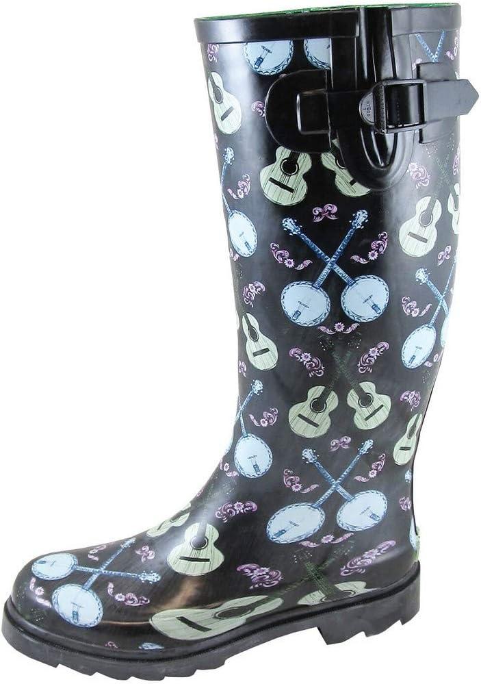 "Smoky Mountain Ladies Banjo 13"" Rubber Rain Boots"