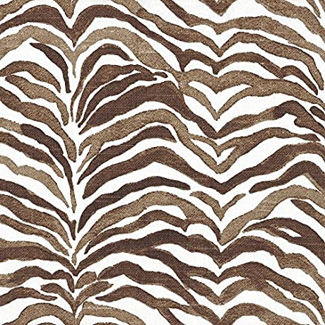 Gathered 22 Serengeti Cafe Brown Animal Print Cal King Bedskirt Cotton