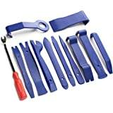 12pcs Blue Auto Car Audio Dash Tirm Panel Installer Interior Door Modeling Clip Set Dashboard Removal Opening Repair Tool Kit