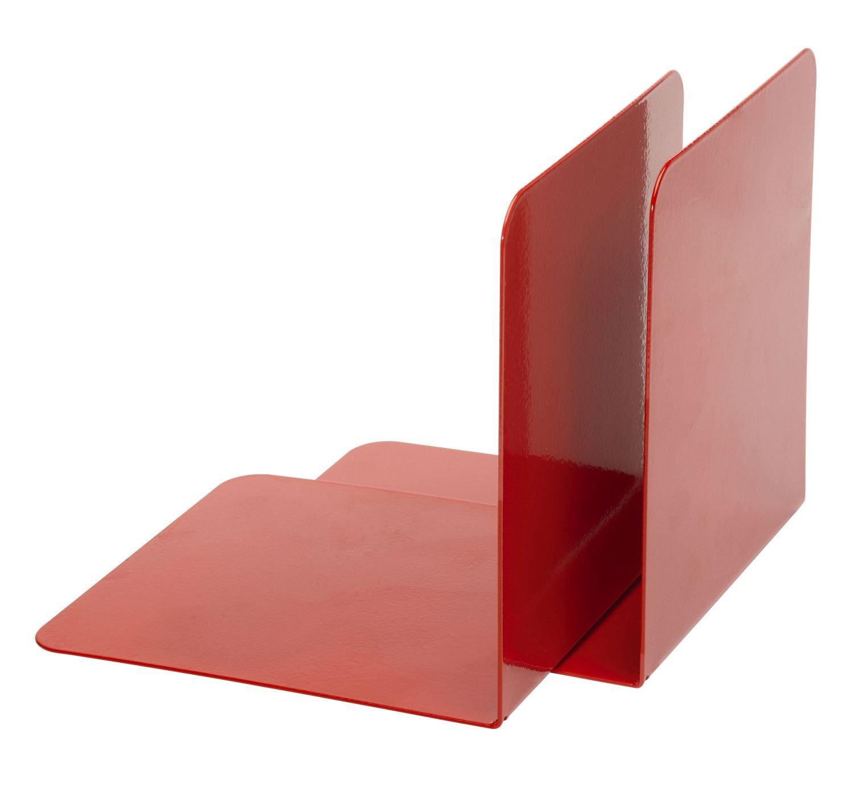 2 pezzi Alco 4302-12 colore: Rosso 130 x 140 x 140 mm Reggilibri in metallo