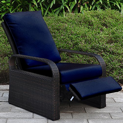 Arttoreal ATR - Sillón reclinable de mimbre con cojines, mueble para ...