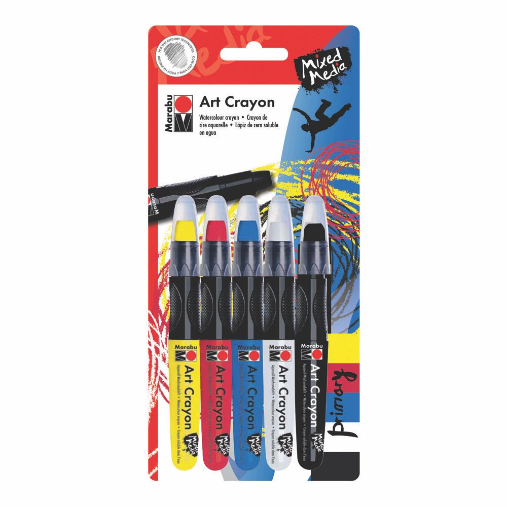 Marabu Creative Art Crayon, Primary Set (0140900000204)