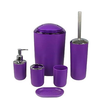 Set de 6 accesorios para el cuarto de baño GMMH, para cepillos de dientes,