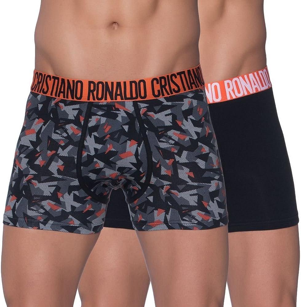 CR7 CRISTIANO RONALDO Enganliegende Boxershorts Fashion Trunk 2-Pack Calzoncillos Ajustados, Hombre