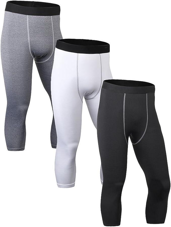 Kemrrey Mens Compression Pants Base Layer Cool Dry Sports Tights Leggings