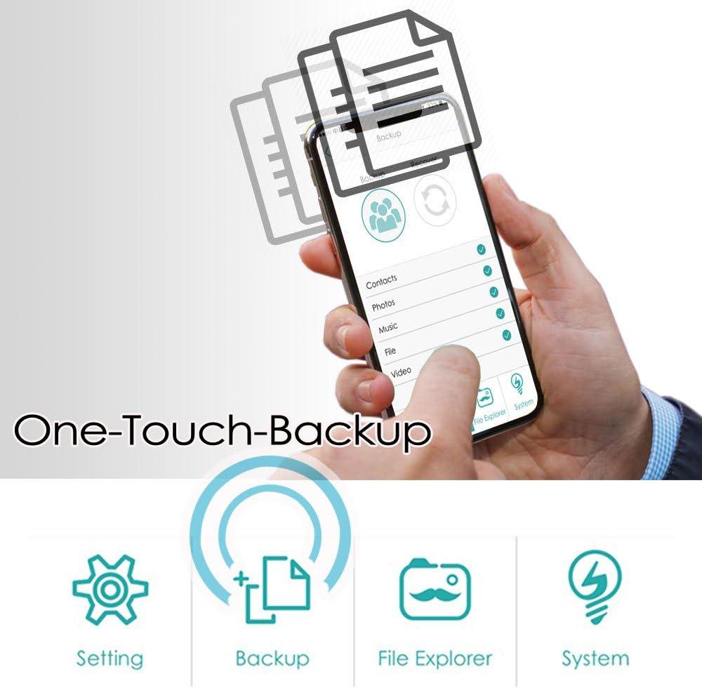 64GB Silver Tablets 5G WI-FI Hyper Fast Speed Universal Media Storage Drive for Smartphones V-smart FD100 64GB // 128GB // 256GB CrystalDisk Wireless Flash Drive Computers