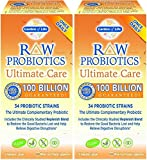 Raw Probiotics Ultimate Care-100 Billion Garden of Life 30 VCaps (2 Pack)