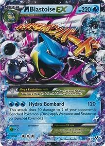 Pokemon M Blastoise Ex 30/146 Xy Card