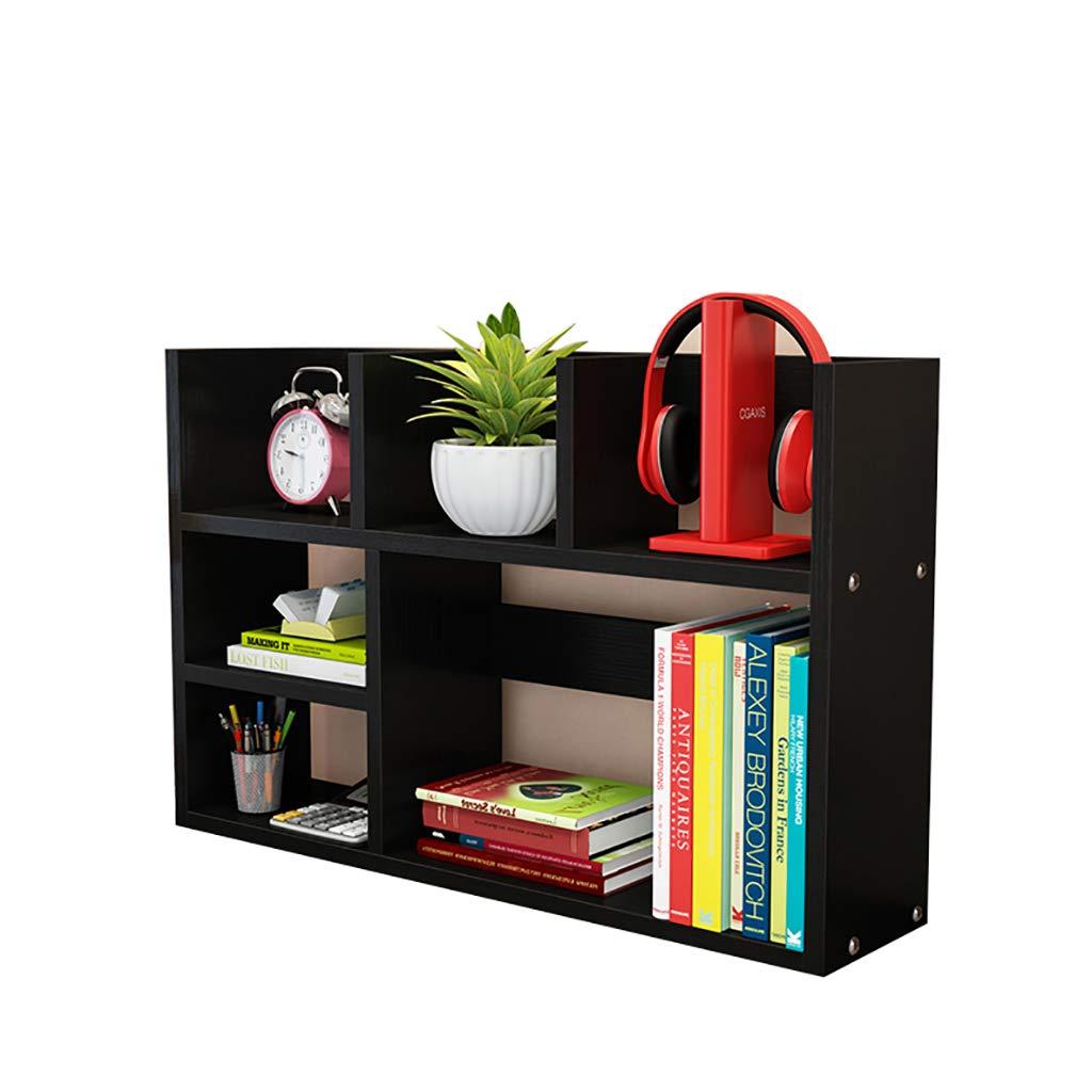 C 602050cm Desktop Bookshelf Storage Shelf Student Office Desk Small Bookshelf Dormitory Bookcase (color   B, Size   80  20  50cm)