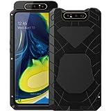 Feitenn Galaxy A80 Case, Samsung A80 Case Heavy Duty, Metal Cover Gorilla Glass Armor Aluminum AlloyBumper Military Shockproo