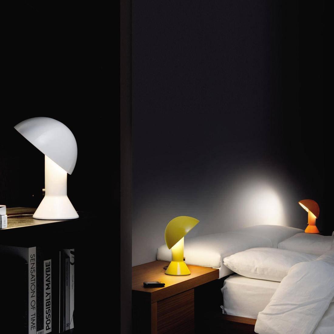 elmetto - Lámpara de mesa rubí H28 cm - Lámpara de mesa ...