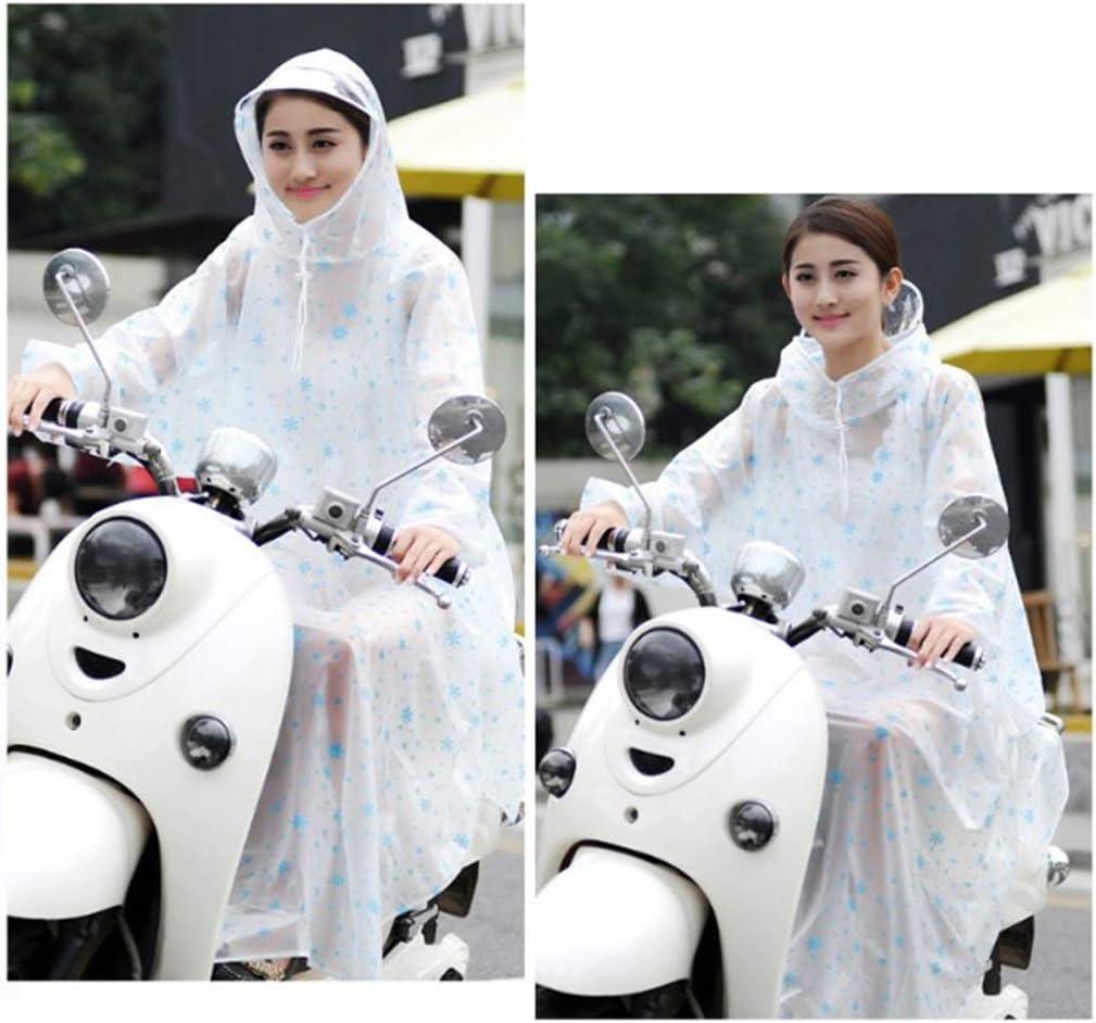 GFF Impermeabile Trasparente Veicolo Elettrico Impermeabile per Bicicletta Impermeabile maggiorato con Manica per Ciclismo Singolo (Taglia: 2XL) (Colore: E) T hxWkW