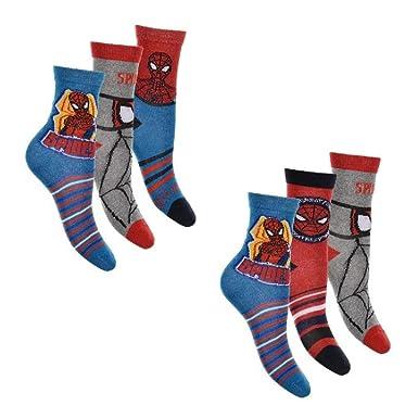 Pack de 6 calcetines infantiles de Spiderman, talla 27 - 34: Amazon.es: Ropa y accesorios