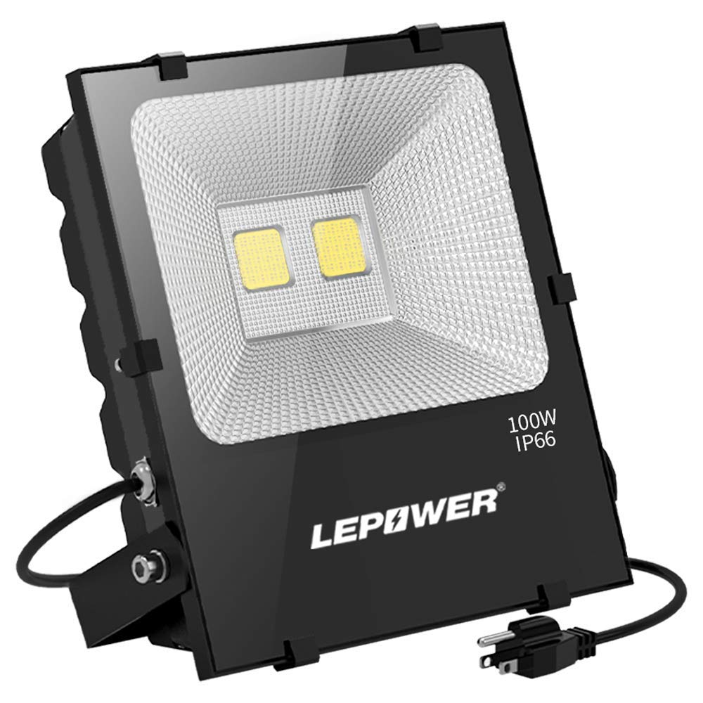 LEPOWER 100W LED Flood Light Outdoor