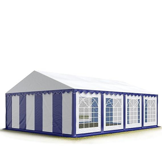 Carpas para fiestas y eventos 5x8 m, lona de PVC de alta calidad de 500g/m², con tubos de acero inoxidables