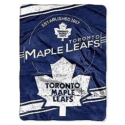 NHL Toronto Maple Leafs Stamp Plush Raschel Blanket, 60\