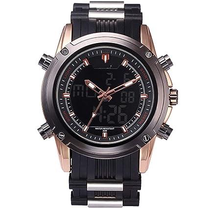 WULIFANG Relojes De Marca Reloj Militar Luminosa Hombres Sport Chronograph Reloj Digital Ejército Acero Oro Rosa