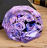 WEIWEI Crystal ashtray, Creative personality multi-purpose ashtray, Polygon large ashtray-B diameter18cm(7inch)