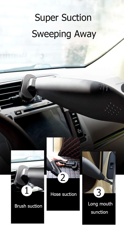 Smart Mute Aspirateur, humide et Aspirateur de voiture à sec, puissant à main Aspirateur portable sans fil à usage domestique cadeau (Color : Type A) Type B