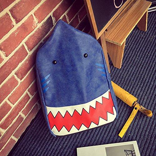 BAGEHUA 印刷されたショルダーバッグは、男性と女性の Pu マット、大容量のトラベルバックパック 学生バッグ 15 インチラップトップバックパック、高 40 cm 、長さ 28 センチ、厚さ 13 cm B075FPMRR1  blue