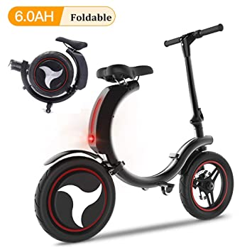 Amazon.com: San Qing Mini bicicleta eléctrica plegable para ...