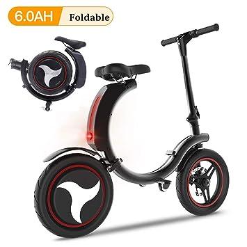 Amazon.com: San Qing Mini bicicleta eléctrica plegable para ...