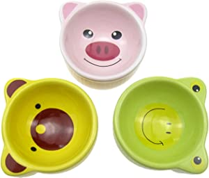 Alfie Pet - Jude 3-Piece Set Ceramic Food and Water Bowl for Mouse, Chinchilla, Rat, Gerbil and Dwarf Hamster