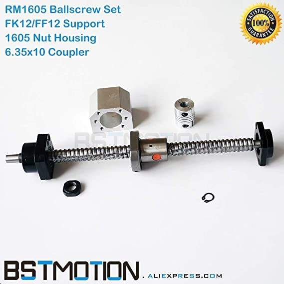 Amazon.com: Lysee 1605 Ballscrew SFU1605 165mm 200 300 400 ...