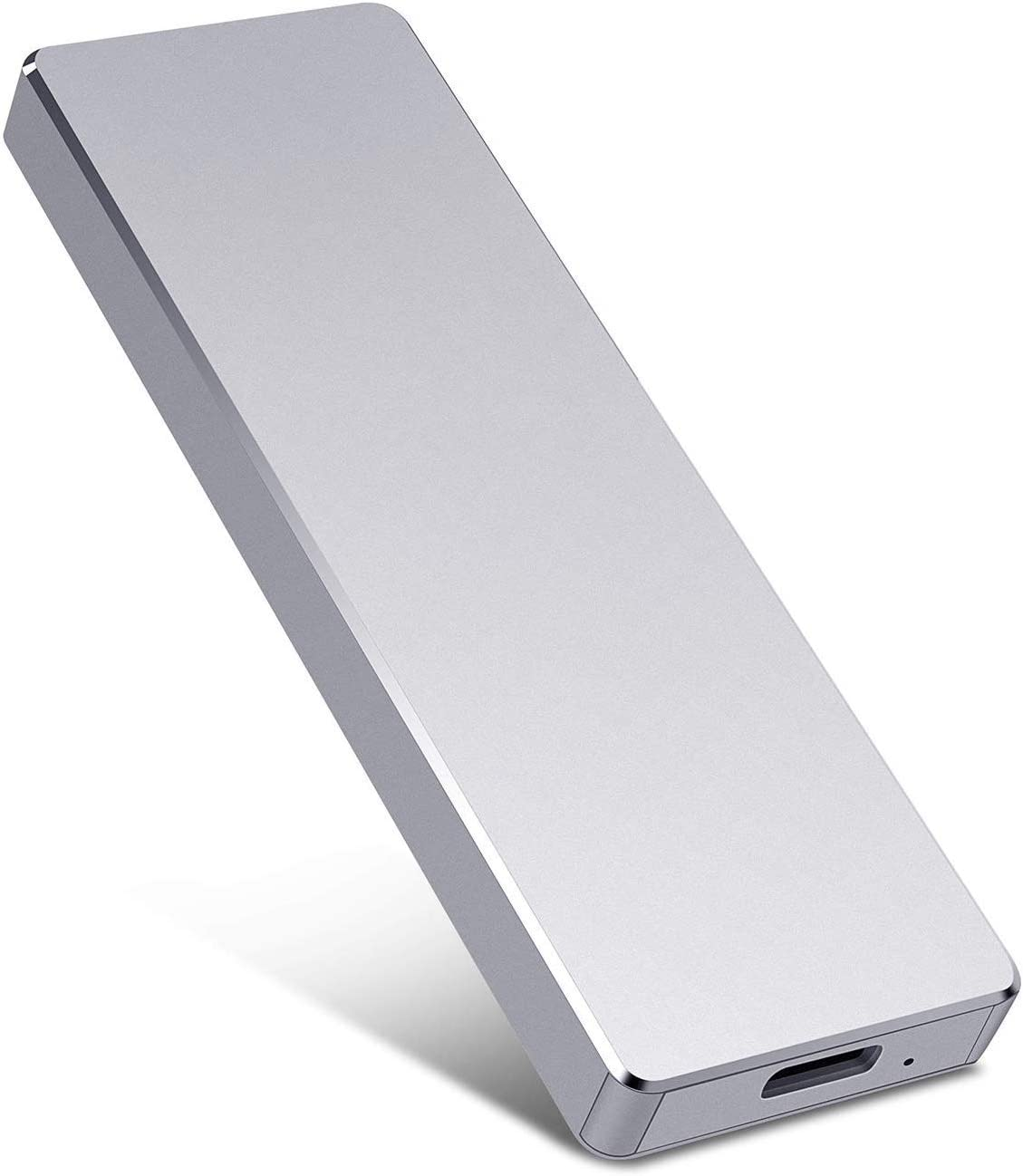 External Hard Drive, Portable Hard Drive Storage Drive 1TB 2TB Ultra-Thin Hard Drive 3.1/Type-C, Compatible with PC, Laptop and Mac (A-2TB-Silver)