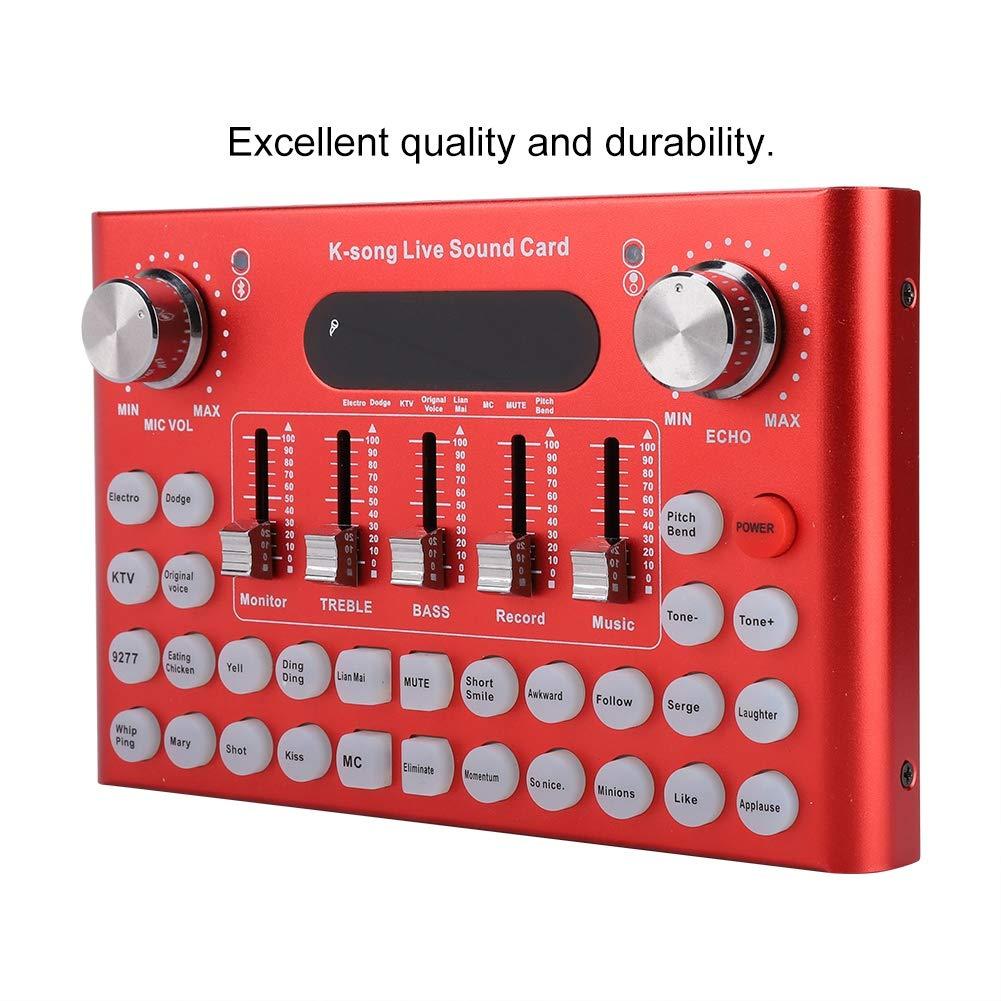 Live Sound Card,ASHATA Multifunctional Bluetooth Live Sound Card