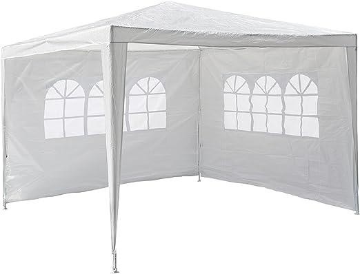 defacto® Carpa 3 x 4 m Cenador plegable de jardín tienda ✓ PopUp ✓ PVC – Impermeable ✓ Dos pared laterales (una pared de una ventana completa) ✓ Bolsa ✓ 20kg, color verde, tamaño 3x4: Amazon.es: Jardín