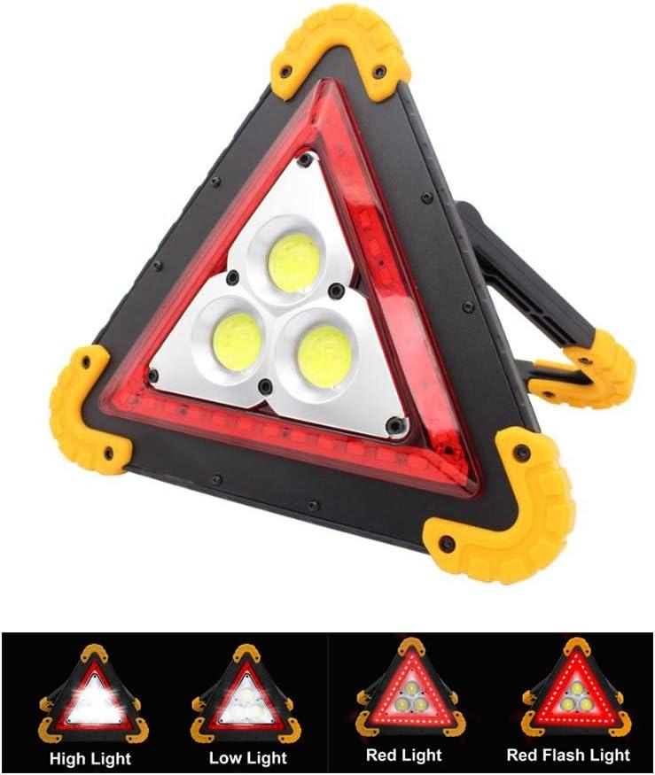 Longwing Luz de Emergencia Coche,Triángulo de Emergencia Luminoso, Luz de Trabajo LED Recargable,Help Flash,para Preseñalización de Peligro o Iluminación de Campamento al Aire Libre-30W 1000 Lúmenes