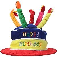 Home-X Plush Happy Birthday Cake Hat (Multi-Colour)