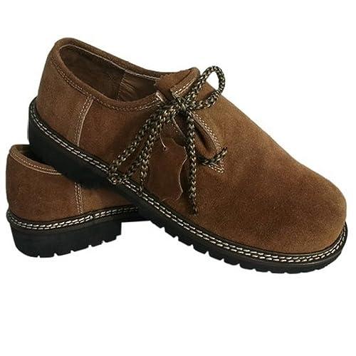 Frohsinn - Zapatillas, piel auténtica, para traje bávaro ...